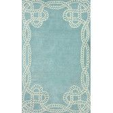 Found it at Wayfair Supply - Filigree Marco Polo Blue Area Rug $679 8x11