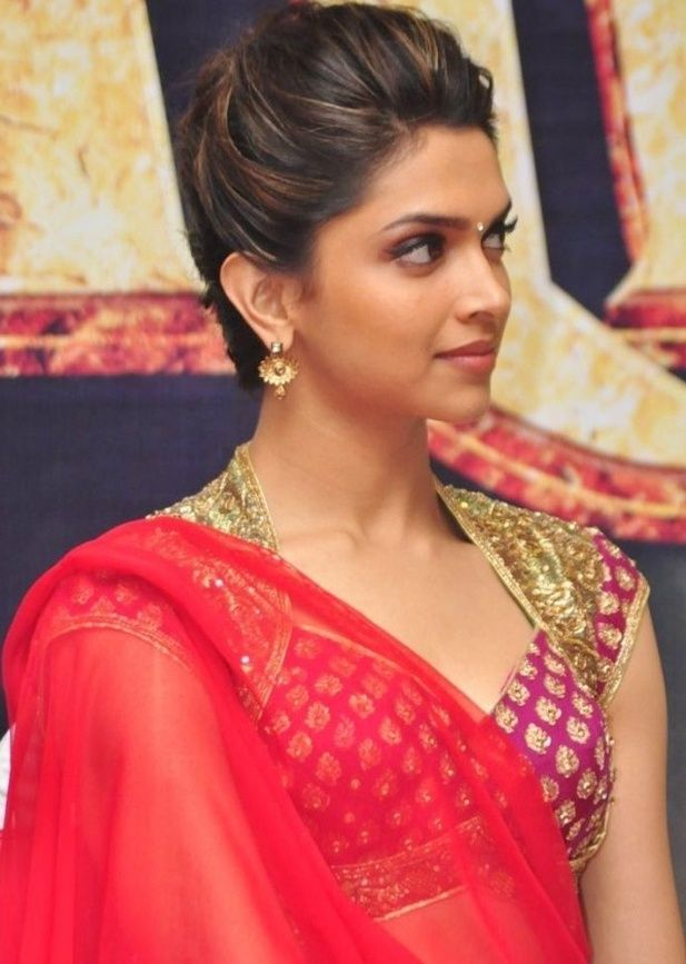 long Indian hair sarees | deepika padukone red saree 3 - Bollywood and Hollywood Image Hosting ...