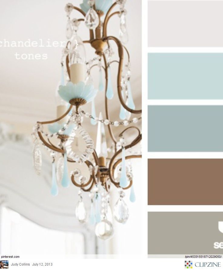 Color Palettes - beautiful painted chandelier | interiors-designed.com