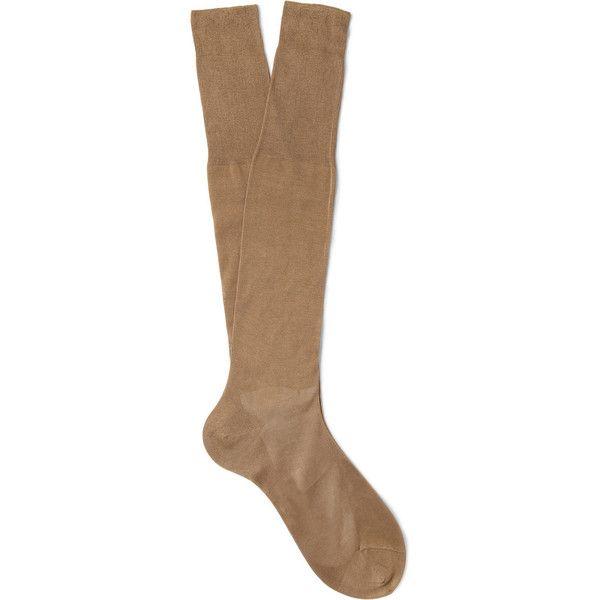Bresciani Knee-Length Fine-Cotton Socks