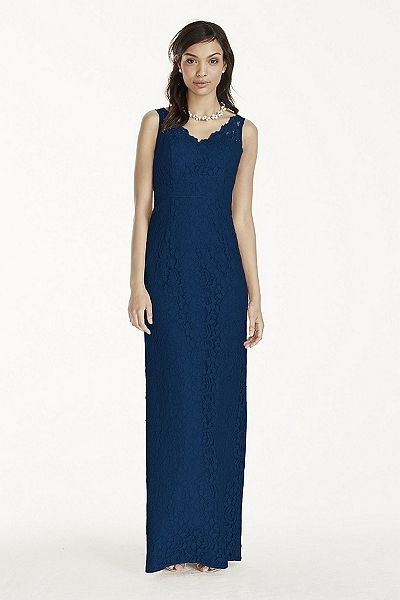 MORE COLORS Coming Soon! - Long Lace Tank Dress Style W10855 In Store $189.95  davidsbridal.com