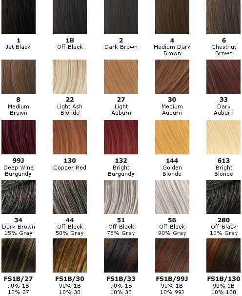 hair weave number color chart