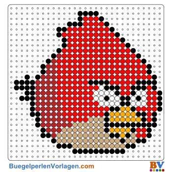 Angry Birds Bügelperlen Vorlage. Auf buegelperlenvorlagen.com kannst du eine große Auswahl an Bügelperlen Vorlagen in PDF Format kostenlos herunterladen und ausdrucken.