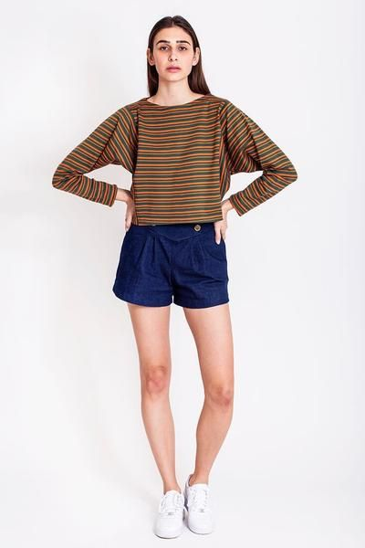 SALES - now €45.00 was €90.00.   Oversized striped sweatshirt by Chicks on Chic