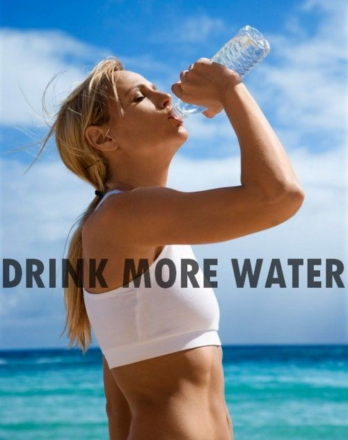Water is crucial for your health, not only does it help with pain, muscle cramps & keeping your entire body more hydrated (including plumping up your skin - which makes is more youthful) it also keeps keeps flushing out toxins. It can even help with headaches & feeling tired!