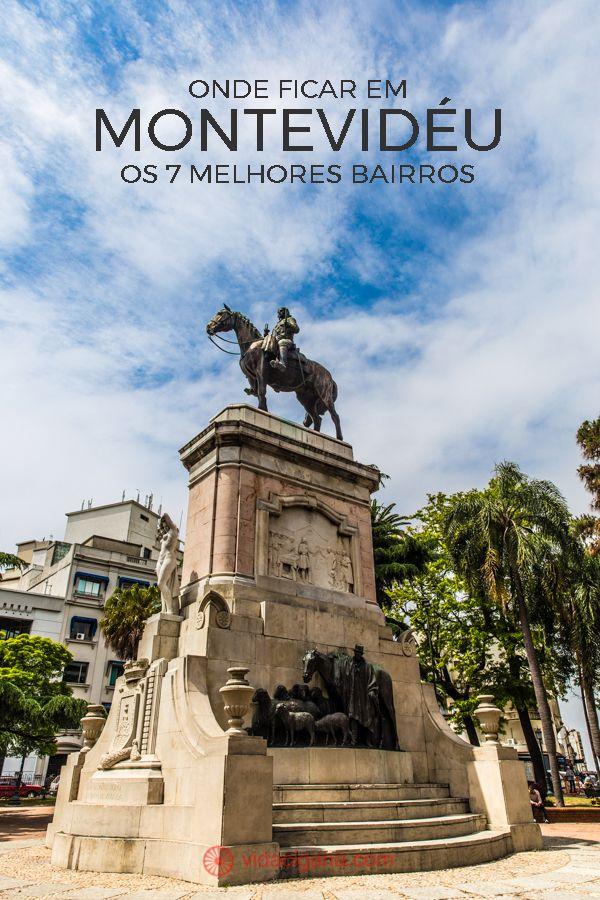 Onde ficar em Montevidéu: A linda e escondida Plaza Zabala, em Montevidéu, a capital do Uruguai. Um ótimo lugar para pegar sol, ler um livro e ver a vida acontecendo. No centro da praça uma estátua equestre e possui um formato parisiense, diferente das outras da cidade.