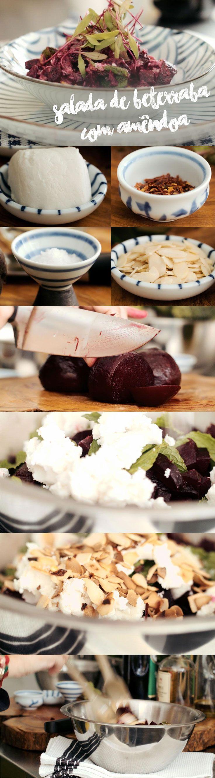 Beterrabas são divinas. Suculentas e saborosas, são ótimas em saladas e sopas. Confira o passo-a-passo e os benefícios dessa receita! Mais receitas em http://www.myyellowpages.com.br Link da receita: http://www.myyellowpages.com.br/salada-de-beterraba-com-amendoas/