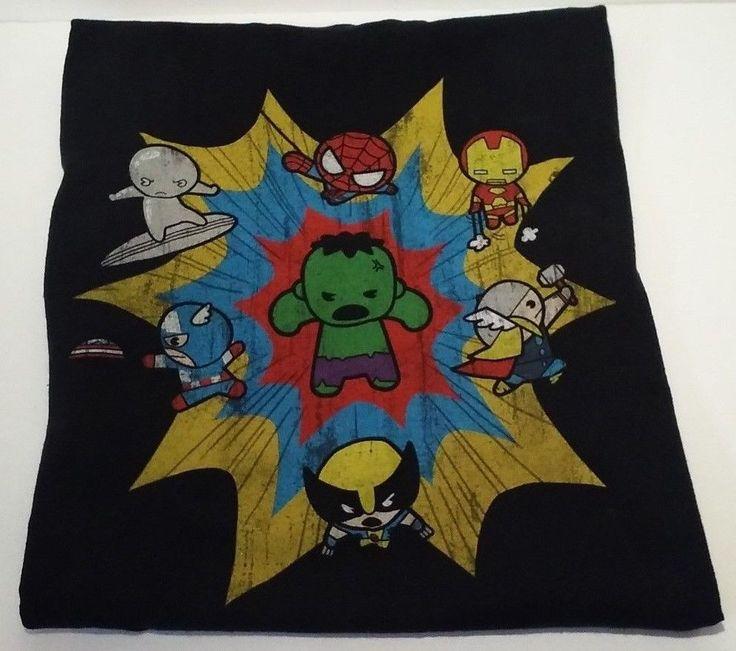 Marvel Comics T Shirt Sz L Large Spiderman Iron Man Thor Hulk Wolverine Avengers #Marvel #GraphicTee