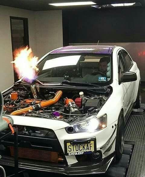 Delightful Mitsubishi Lancer Evo X On Dyno · Slammed CarsJdm ...