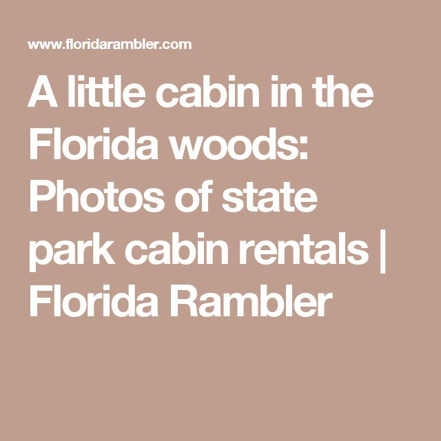 A little cabin in the Florida woods: Photos of state park cabin rentals | Florida Rambler