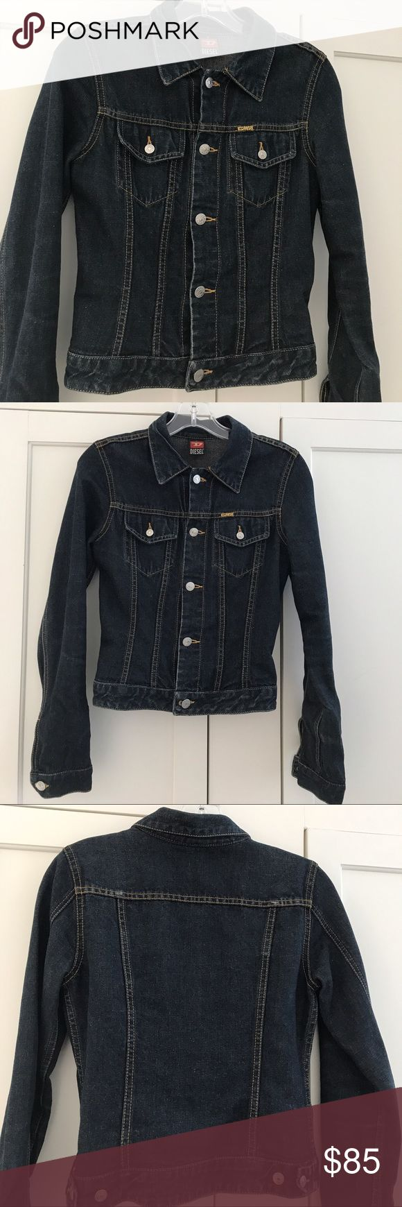"Diesel women's jeans jacket Diesel women's jean jacket....like new condition....length 19"", armpit to armpit 16"" diesel Jackets & Coats Jean Jackets"