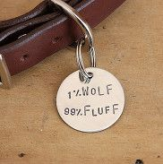 One Percent Wolf Personalised Dog I.D. Tag