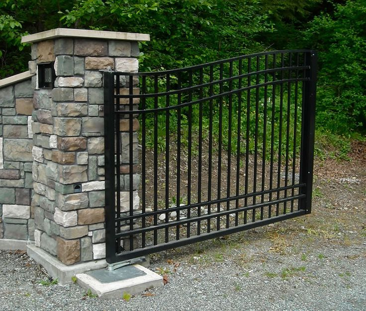 158 best images about driveway entries on pinterest for Aluminum gates for driveways