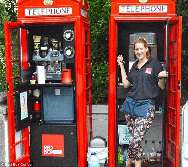 Old red phone boxes to be converted into cafes, sweet shops and shoe shine stands | Daily Mail Online