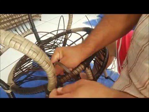CURSO DE MOVEIS DE ALUMINIO,como fazer cadeiras de aluminio,como trançar cadeiras fibras sinteticas - YouTube