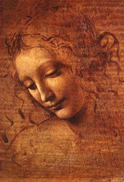 "Leonardo da Vinci (1452-1519). Italian painter, sculptor, architect. High Renaissance. ""La Scapigliata"" (The Head of a Woman) (around 1500). Galleria Nazionale of Parma, Italy."