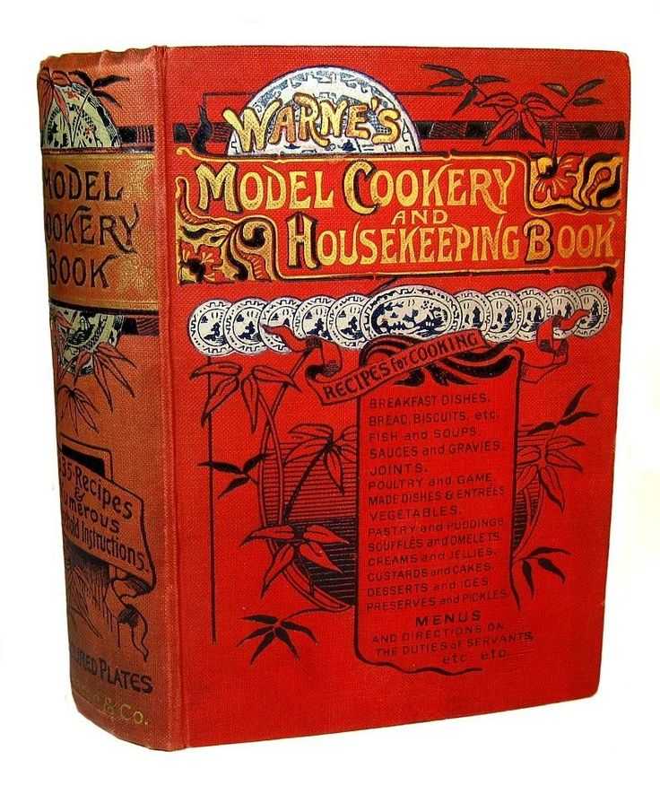 VICTORIAN ANTIQUE COOKBOOK COOKERY 1890 CONFECTIONERY PASTRY KITCHEN HOUSEHOLD | eBay