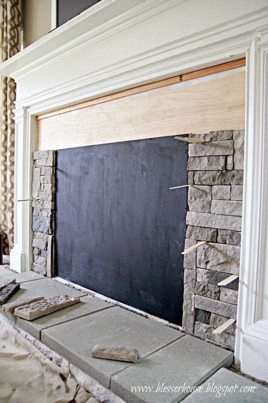 How To Build A Faux Fireplace And Mantel Mantels