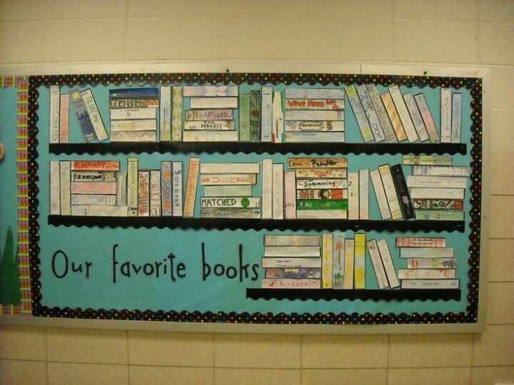Eigen boekenplank maken Laat de kinderen de zijkant van het gelezen boek na maken. De favoriete boeken van de klas krijgen een plekje op de 'plank'. Wat is de stand na een heel schooljaar lezen?