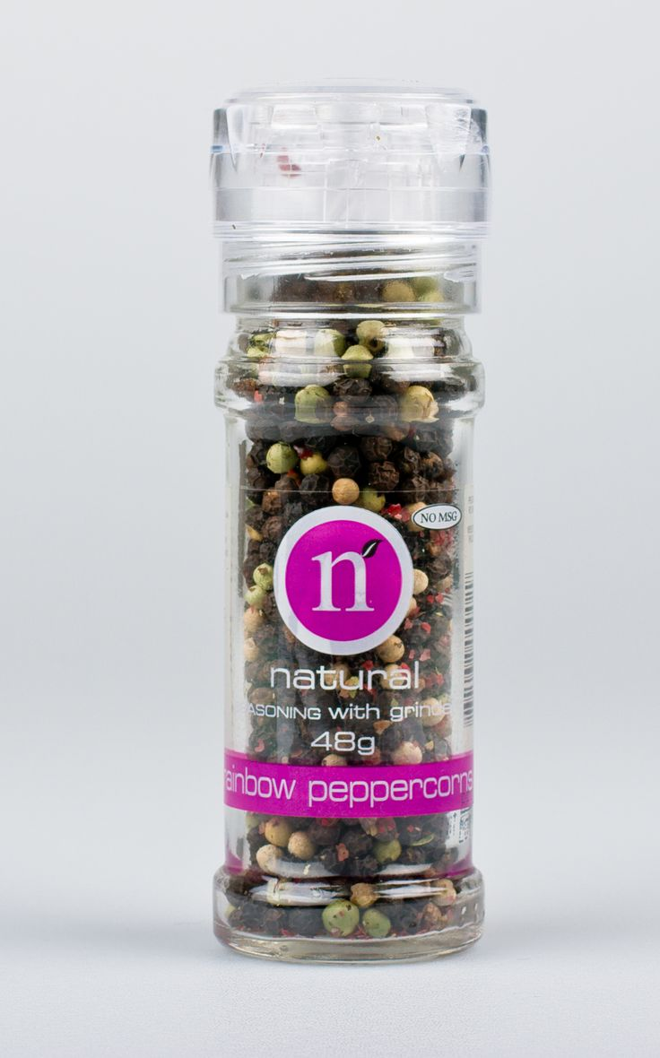 Rainbow peppercorns grinder