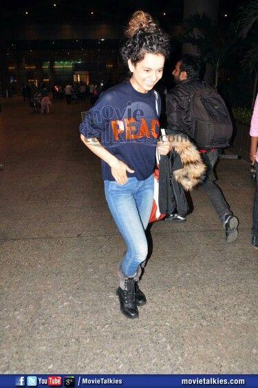 Kangana runout spotted at Mumbai airport