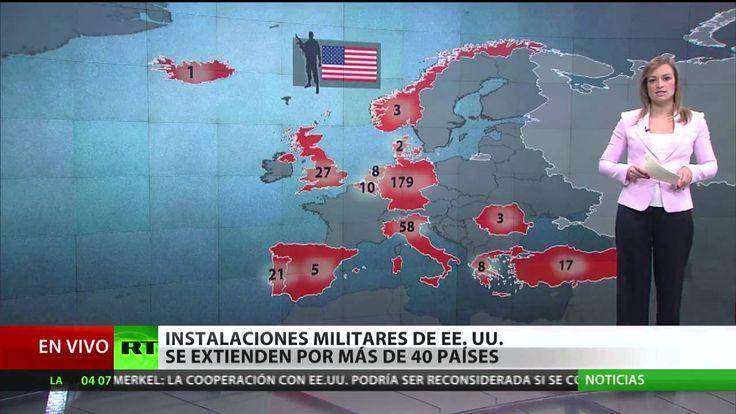 Resultado de imagen de mapa de bases norteamericanas en el mundo