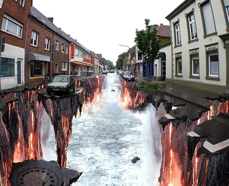 3D street illusion