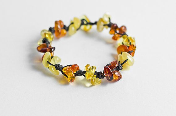 Amber bracelet beaded amber bracelet by MELISSAaccessories on Etsy