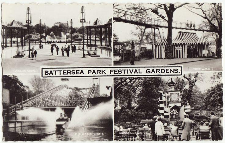 Battersea Park Festival Gardens Postcard