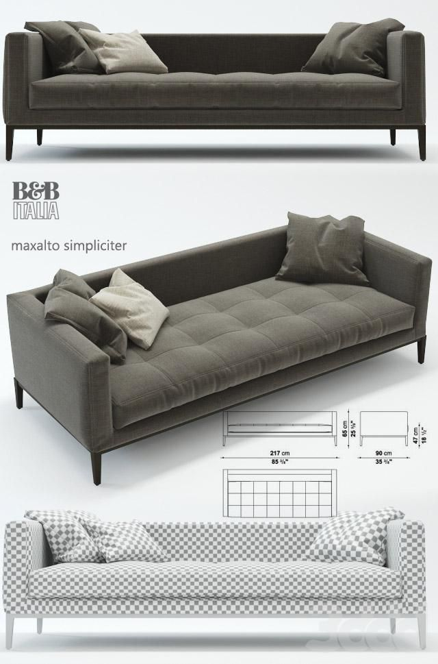 Bu0026b Italia Maxalto Simpliciter, диван: · Bu0026b Italia SofaLoft Furniture Italian FurnitureSofa DesignModern ...