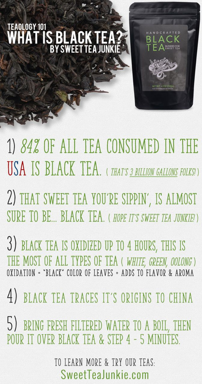 What is Black Tea? This site breaks down the types of teas easily. It's Pins like this that make me want some Sweet Tea!  Re-pin for later... Check!