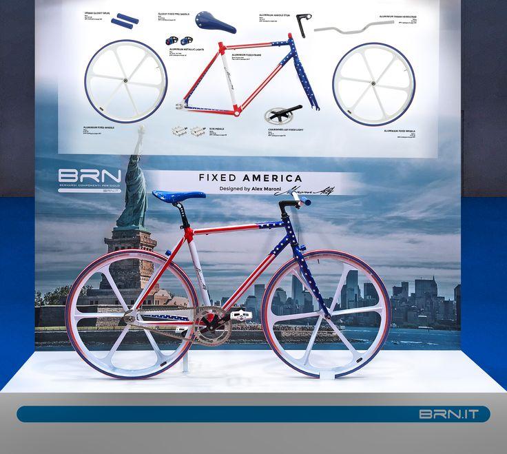 Ecco alcune delle #novità #2017 #BRN presentate in occasione della fiera della #Bicicletta di #Madrid! Questo modello realizzato da #Alex #Maroni si chiama #America. Vi piace? #custombike #bikeparts #bicycleparts #fixedgear #frame #bowframe #baaw #bicyclelifestyle #bicyclelove