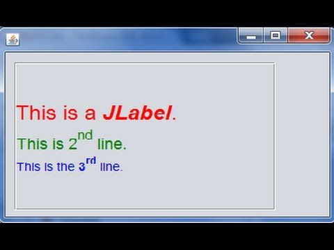 How to Display Multiple Lines in JLabel - Java Tips and Tricks