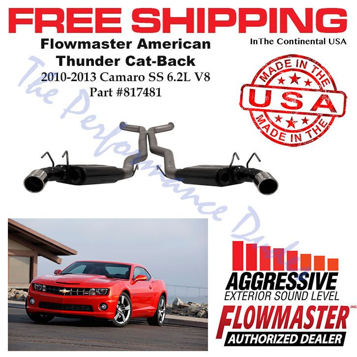 Same Business Day Shipping Flowmaster American Thunder Cat-Back fits 2010-2013 Camaro SS 6.2L Coupe 817481