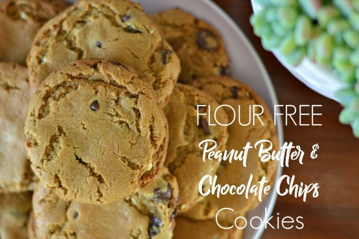 According to Katie FLOUR FREE PEANUT BUTTER & CHOCOLATE CHIP COOKIES