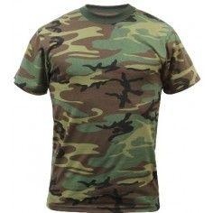 Woodland Camouflage T Shirts