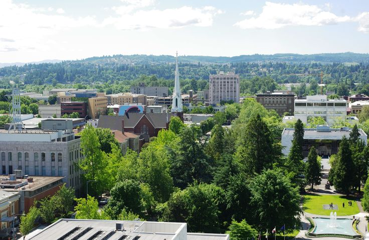 Salem is the capital of the U.S. state of Oregon, and the county seat of Marion County. It is located in the center of the Willamette Valley alongside the Willamette River, which runs north through the city
