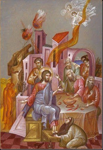 Την Μ.Τετάρτη η αμαρτωλή γυναίκα ζήτησε συγχώρεση απ' τον Ιησού Χριστό για τις αμαρτίες της και του έπλυνε τα πόδια με μύρο.