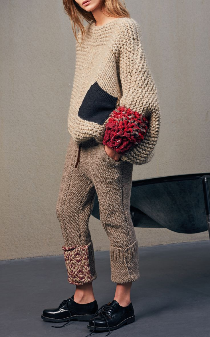 Knit Trousers by TUINCH for Preorder on Moda Operandi