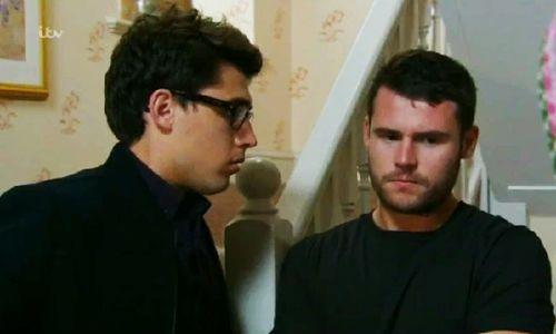 Finn Barton (Joe GIll) & Aaron Livesy (Danny Miller) (September 2014)