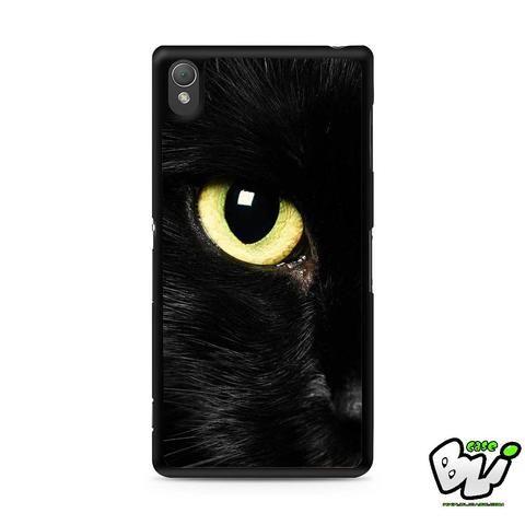 Black Cat Eye Sony Experia Z3,Z4,Z5,C3,C4,E4,M4,T3 Case,Sony Z3,Z4,Z5 MINI Compact Case