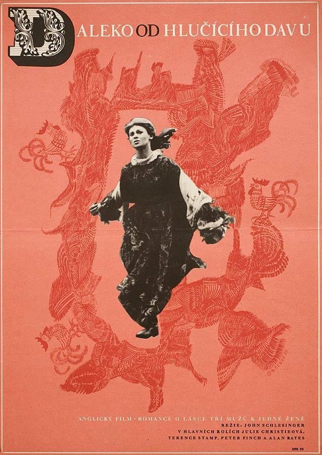 Czech poster for FAR FROM THE MADDING CROWD (John Schlesinger, UK/USA, 1967)Designer:Břetislav Šebek (1925-1998)Poster source: EBaySee more international posters for FAR FROM THE MADDING CROWDat Movie Poster of the Week at MUBI.