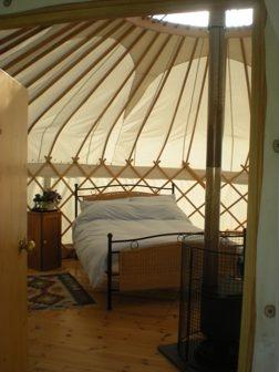 Tremeer Farm Yurt Holidays Cornwall - nice yurt interior