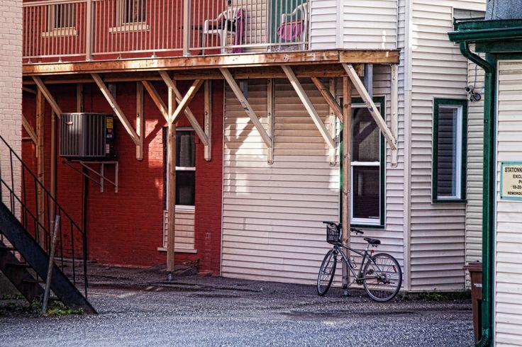 Back street and bike - Magog Quebec Canada