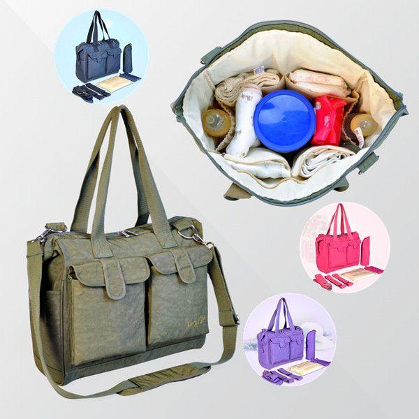 2015 New Solid Mummy Bags Nappy Mother Diaper Beb Bolsos Maternales Zipper Nylon Baby Bag Organizer Messenger Solid Mummy Bags-in Diaper Bags from Mother & Kids on Aliexpress.com | Alibaba Group $25