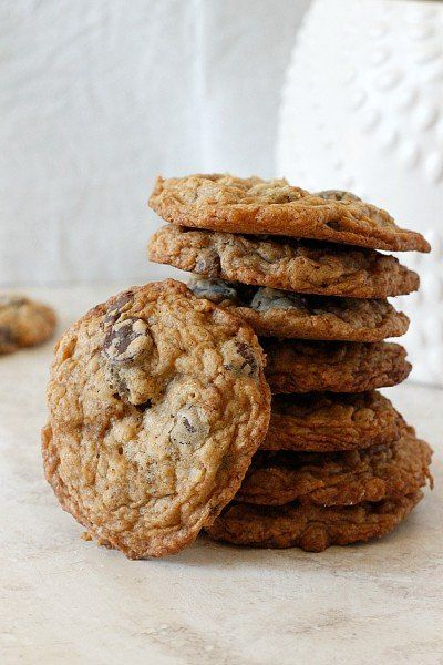 Oatmeal Coconut Chocolate Chip Cookies )) -- Crispy on the outside ...