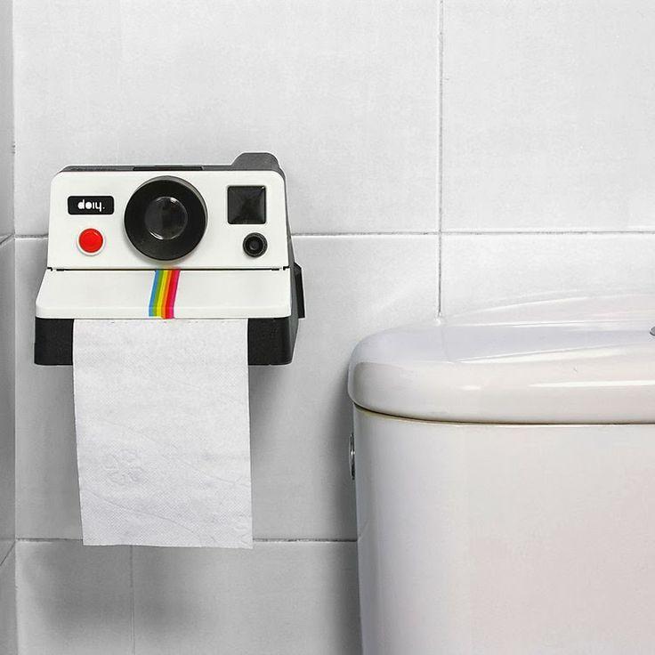 Portarollos de Papel del Water Cámara Polaroid | Regalos Curiosos