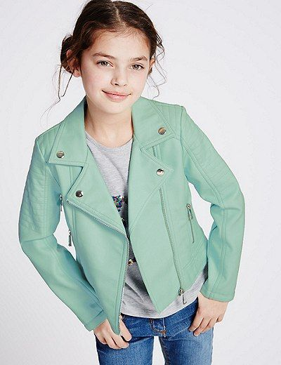Faux Leather Biker Jacket (3-14 Years) | Marks & Spencer London
