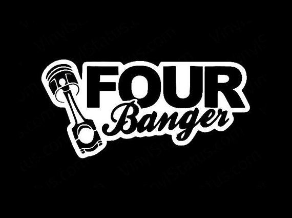Four banger piston funny jdm custom decal sticker