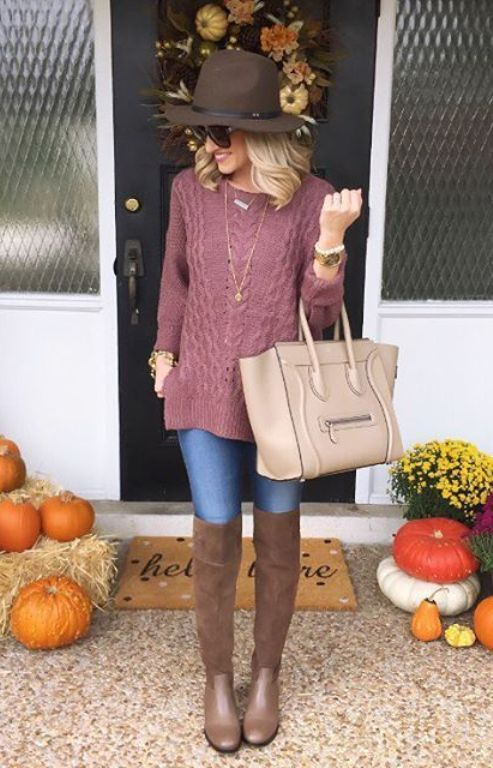 knit sweater outfit, How to dress chic and warm in winter http://www.justtrendygirls.com/how-to-dress-chic-and-warm-in-winter/